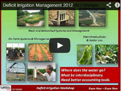 Deficit Irrigation Workshops Screenshot