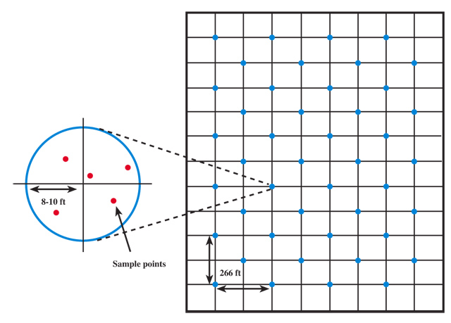 Suggested Grid Sampling Pattern and Density