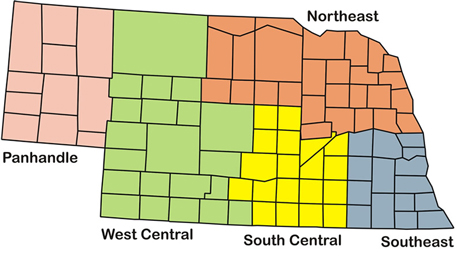 Winter wheat regions for wheat variety virtual tour