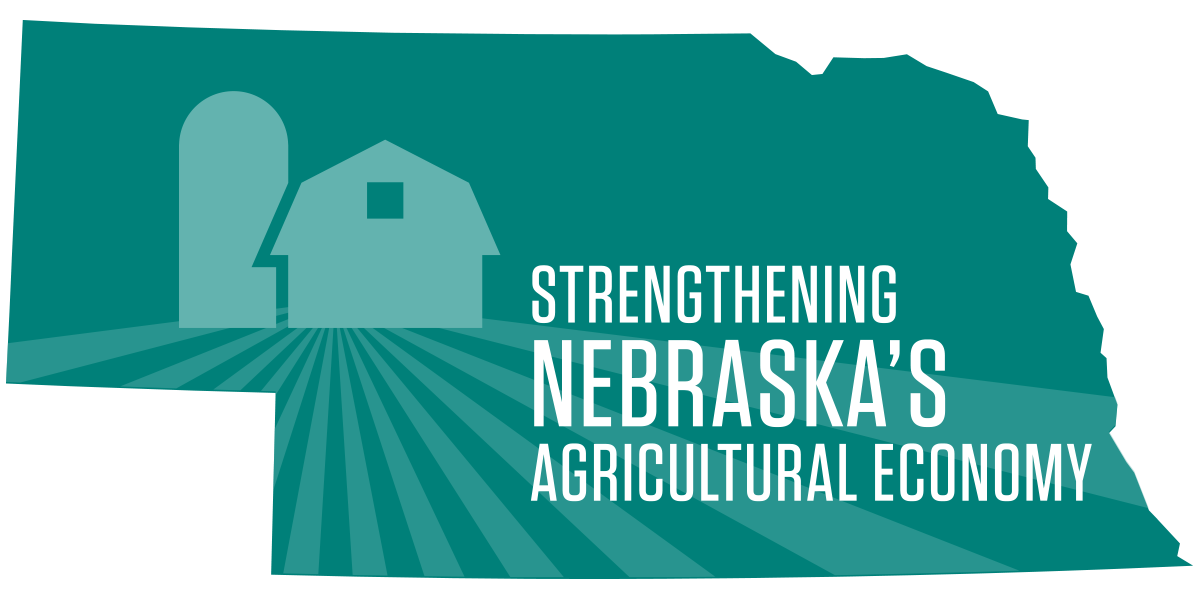 Graphic promoting Extension initiative, Strengthening Nebraska's Agricultural Economy