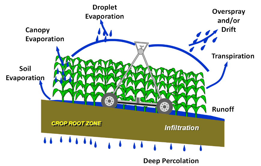 Types of water loss from a center pivot  sc 1 st  CropWatch - University of Nebraskau2013Lincoln & In-Canopy vs. Above-Canopy Sprinklers: Which is Better Suited to ...