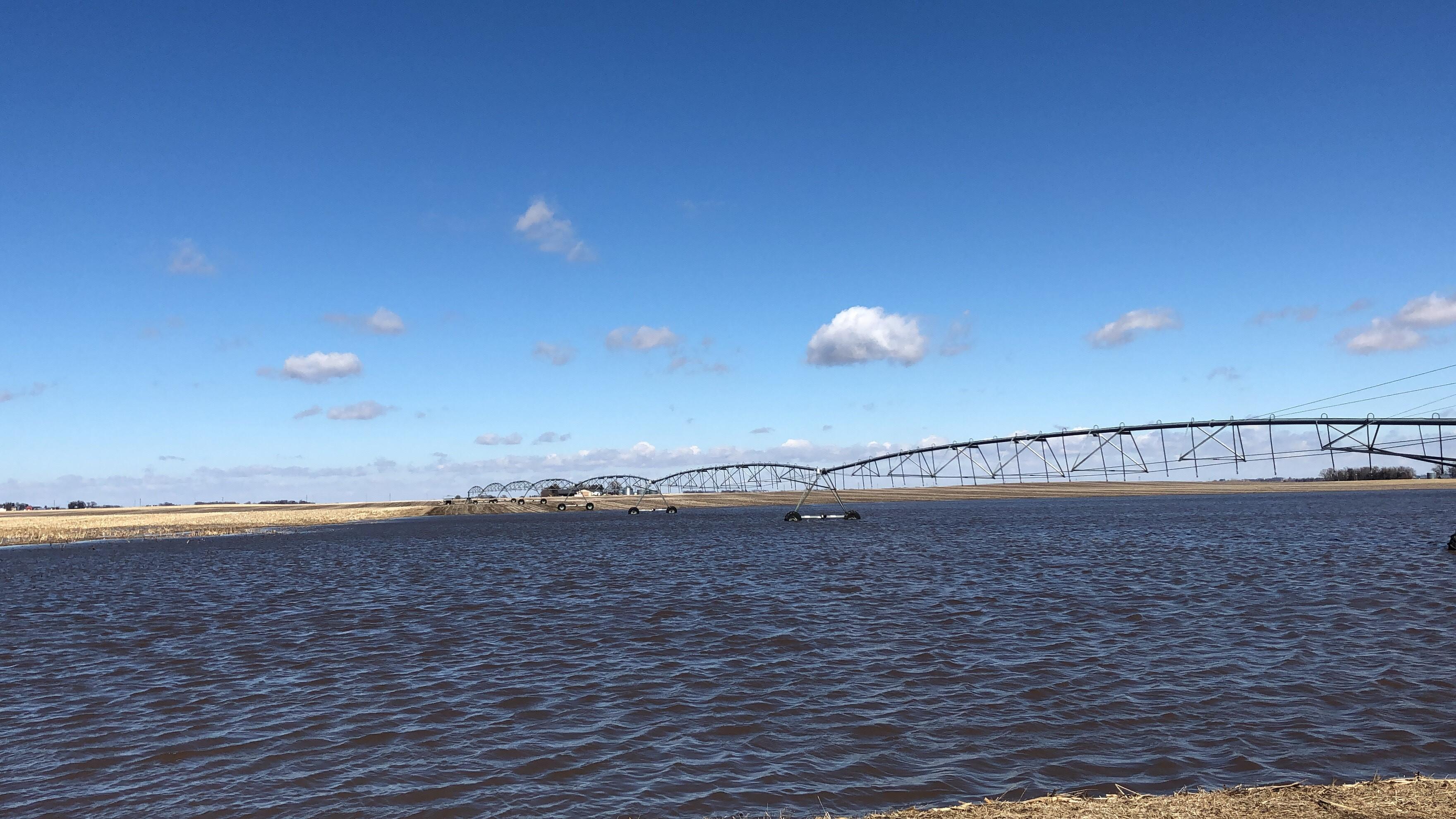Flooded field in eastern Nebraska