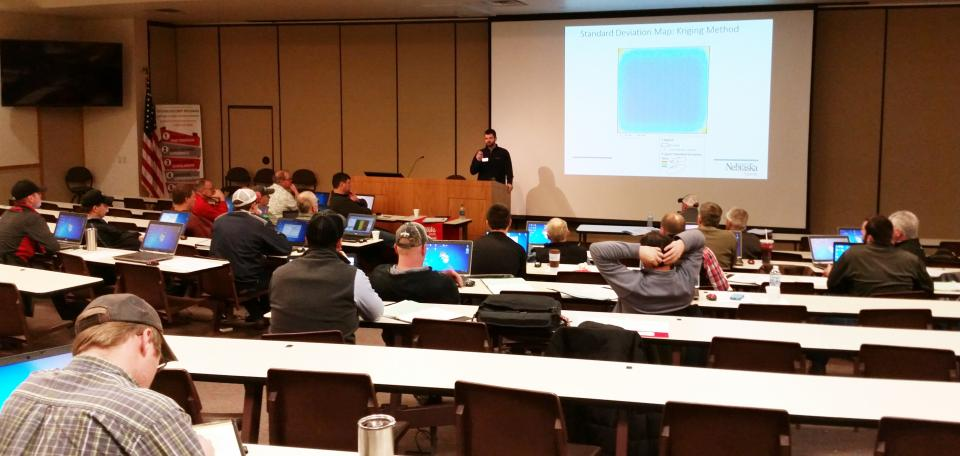 Nebraska Extension Soils Educator Brian Krienke teaching a workshop segment