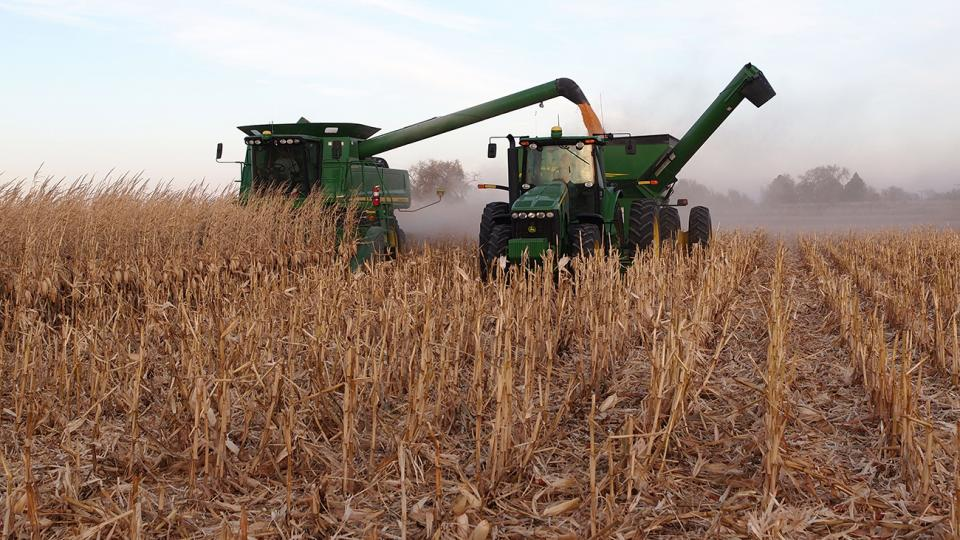 Corn harvest in the Nebraska Panhandle, Oct. 30, 2017.