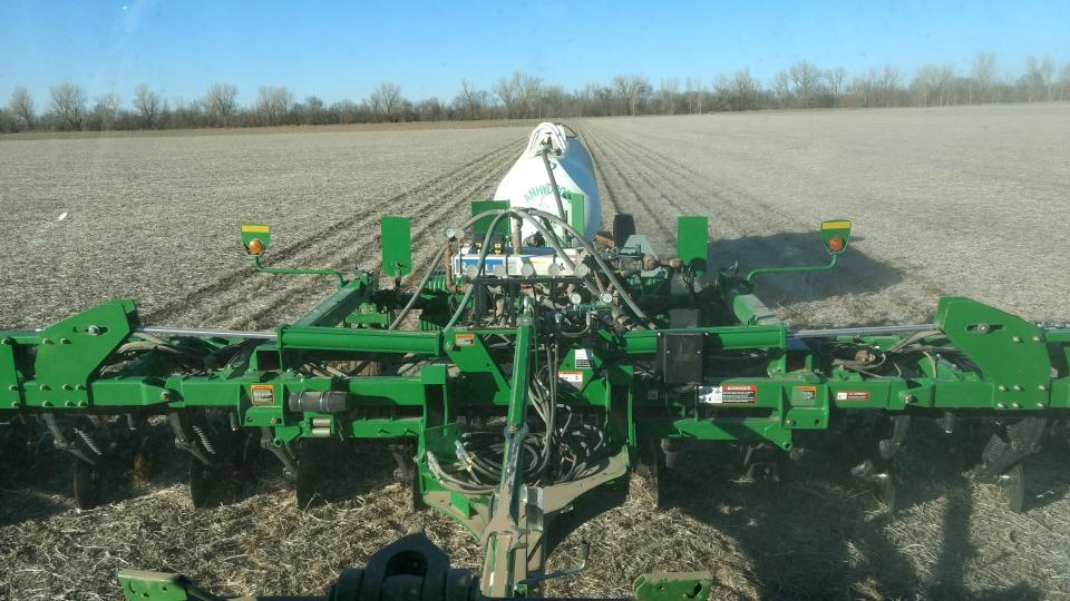 fertilizer applicator in the field