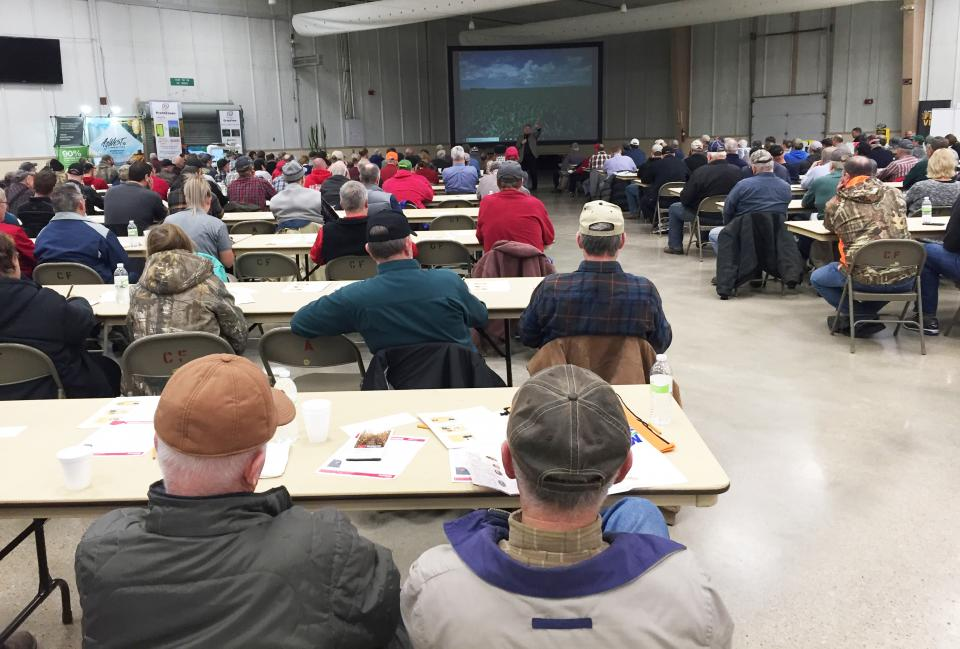 Attendees at the 2019 Fremont Corn Expo, like those shown here at the 2018 event, will learn the latest information on marketing, production and pest management in corn for east-central Nebraska.