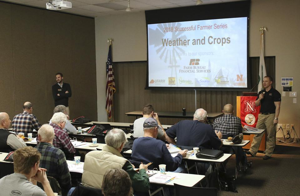 Tyler Williams speaks at one of the 2018 Successful Farmer sessions