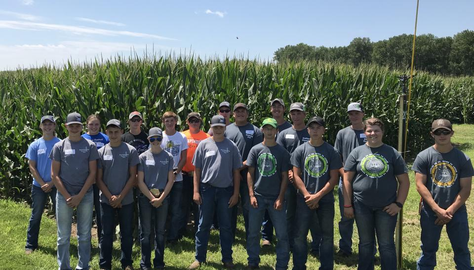 Participants in the 2018 Youth Crop Scouting event