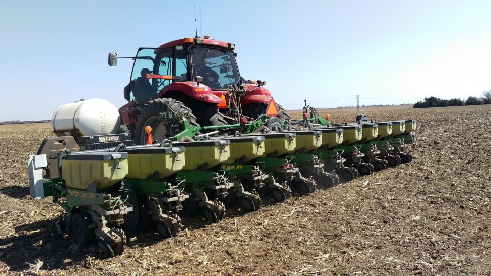 Planter ready to enter the field.