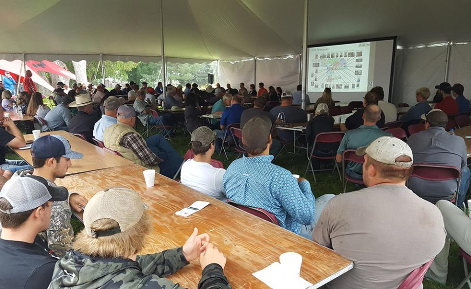 Growers participating in the UNL TAPS competition gather to discuss what they've learned.