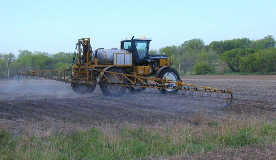 Chemical sprayer application in the field