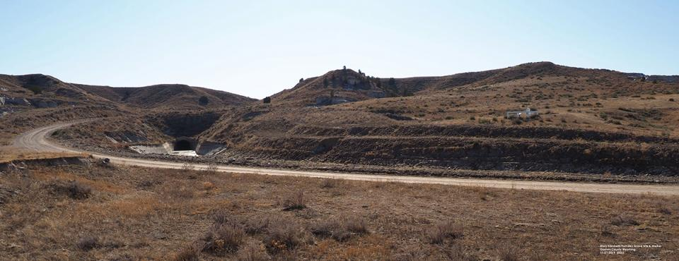 The Oregon Trail gravesite of Mary Elizabeth Holmsley (on the hill at right) is near Tunnel 1 and will affect management options.,