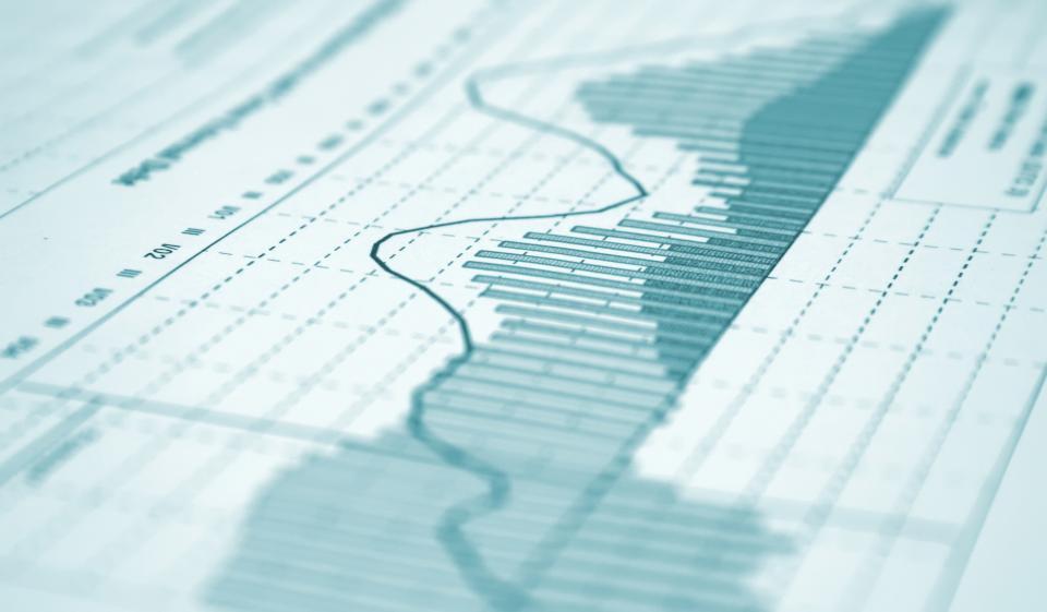 Chart indicating market volatility