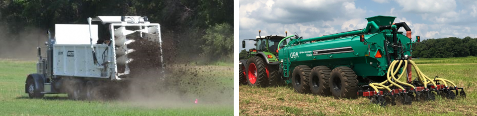 Precision manure application equipment displayed at the 2019 Manure Expo,