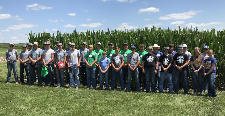 Seven teams of youth, shown here, participated in the 6th Annual Crop Scouting Competition. The top two teams, Colfax County 4-H and Kornhusker Kids 4-H Club Team #1, will represent Nebraska at the Regional program in Iowa on August. 26. (Photos by Brandy VanDeWalle