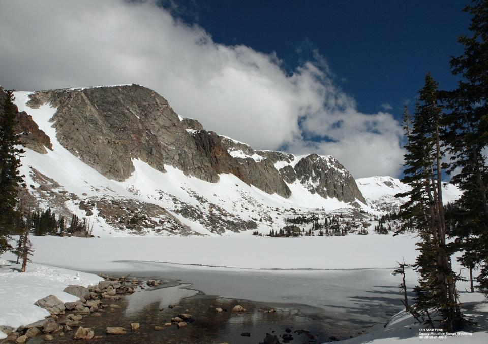 Snowpack on the Snowy Mountain Range that feeds the North Plate River system