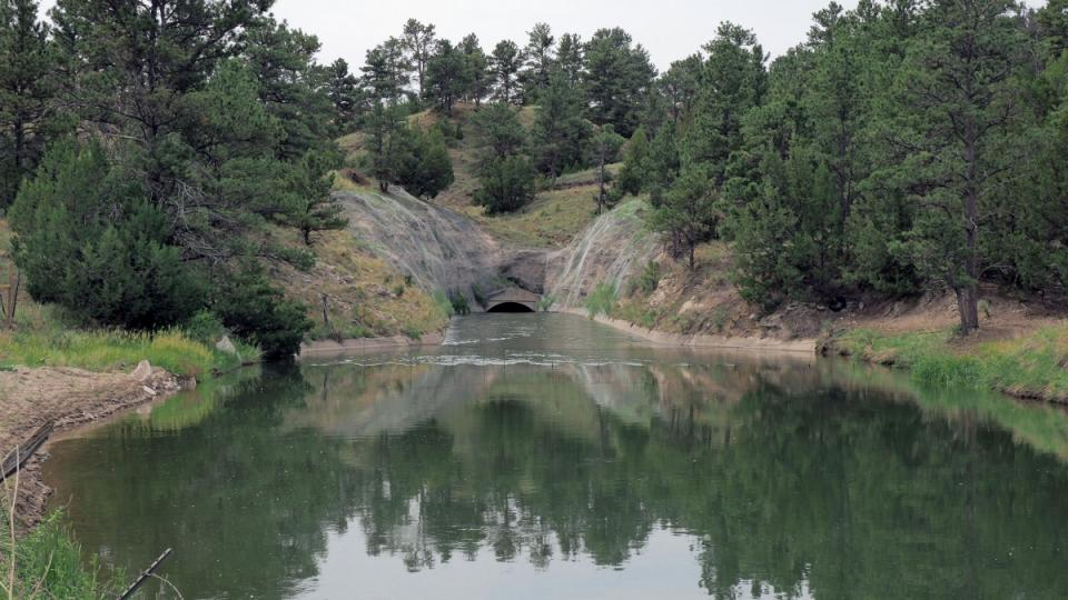 Water in irrigation tunnel