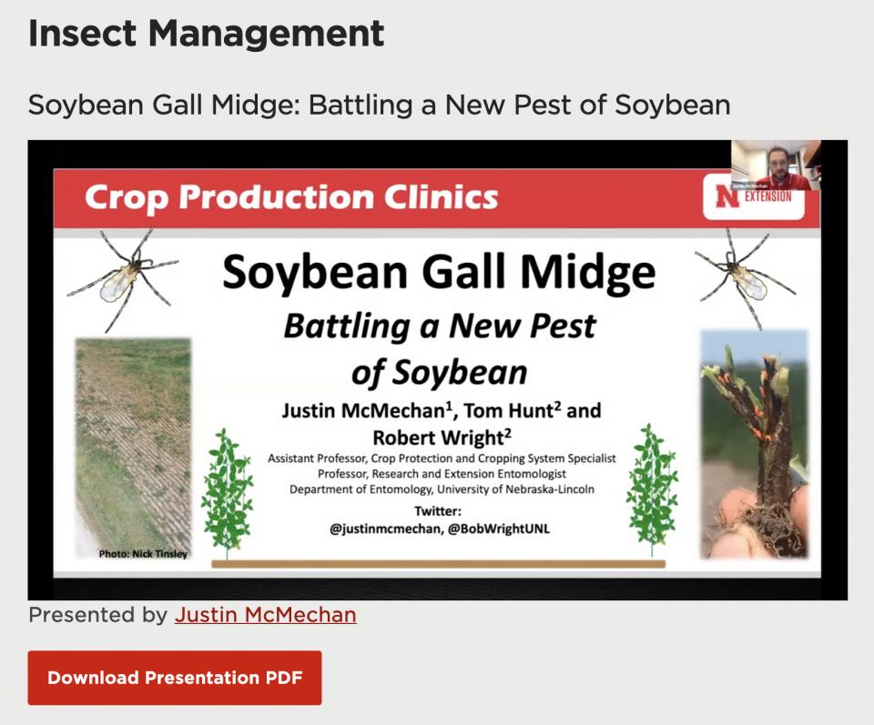 Crop Production Clinic presentation slideshow