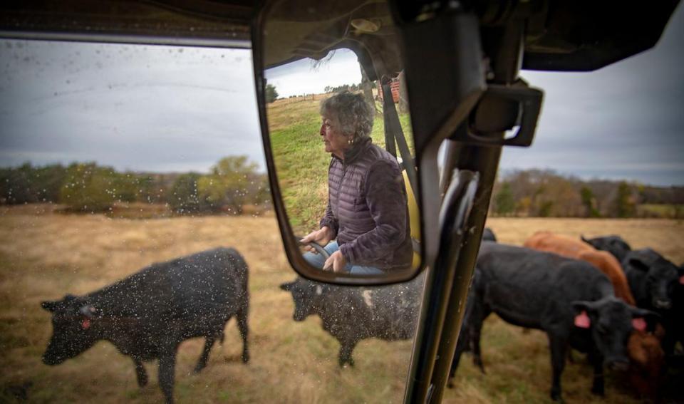 Farmer in tractor