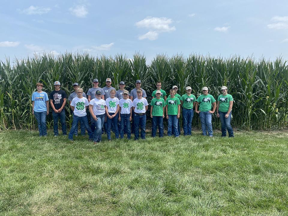 Youth Crop Scouting Competition group