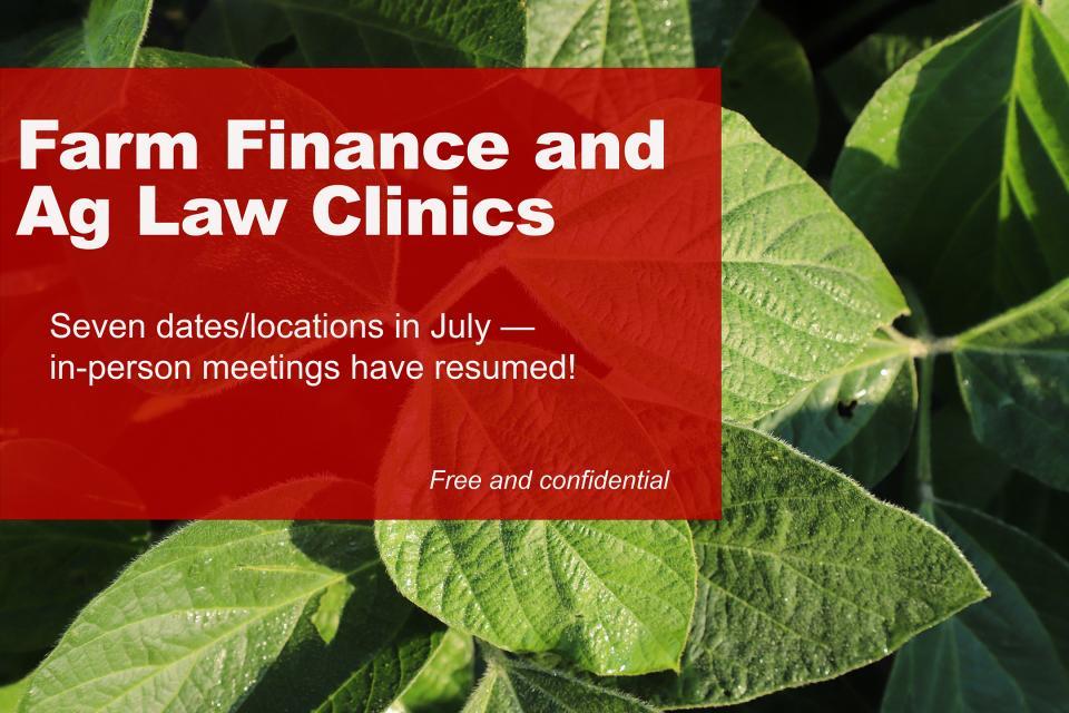 Farm finance clinic banner