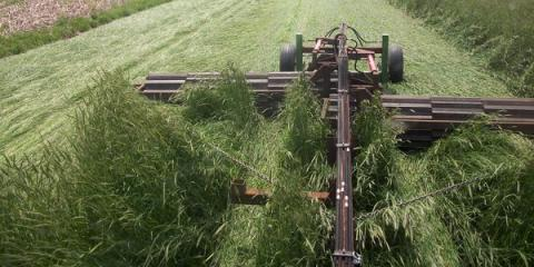 Crimper designed by UNL students to be used in cover crops