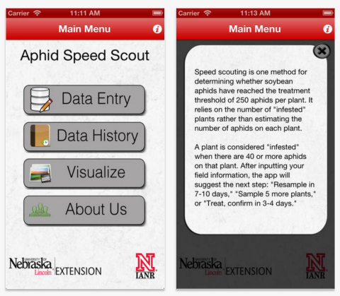 Soybean aphid speed scouting app