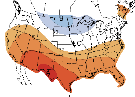 US temperature outlook