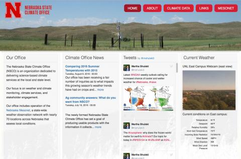 Nebraska State Climate Office website