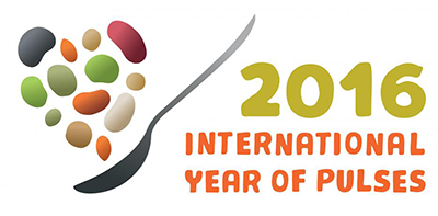 Logo showcasing 2016 International Year of the Pulse