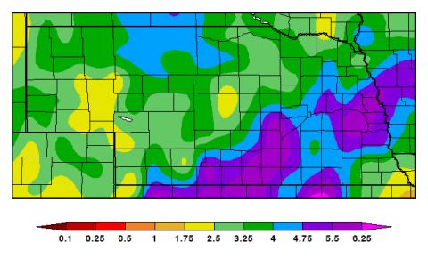 Nebraska precipitation map