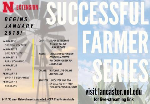 Social Media card promoting the Successful Farmer Series