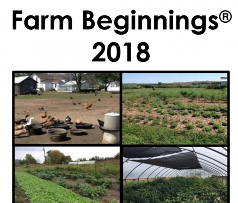Farm Beginnings 2018 Brochure image