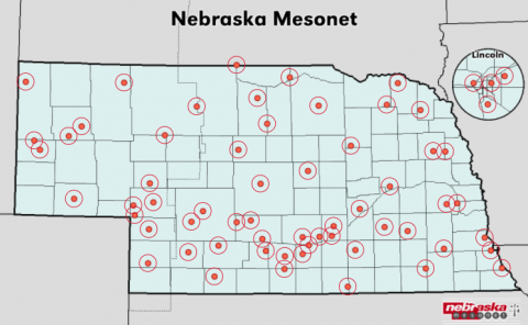 Nebraska mesonet sites