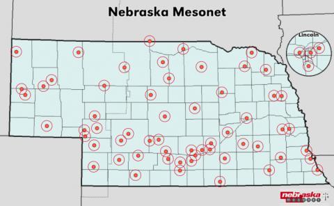 Nebraska mesonet sites