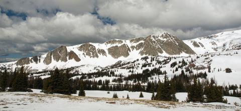 Snowy Moutain Range in Wyoming