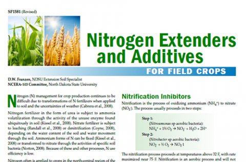 Cover of Nitrogen Exenders and Additives for Field Crops