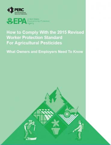 Cover of the EPA guide on complying with the Worker Protection Standard