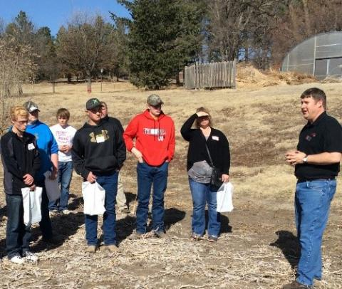 An agronomy day camp in Curtis