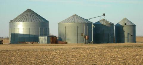 On-farm grain bins