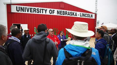 Attendees at Husker Harvest Days, Sept. 11-13 near Grand Island, can find the University of Nebraska-Lincoln's Husker Red steel building at Lot 827 on the southeast side of the exhibit grounds.