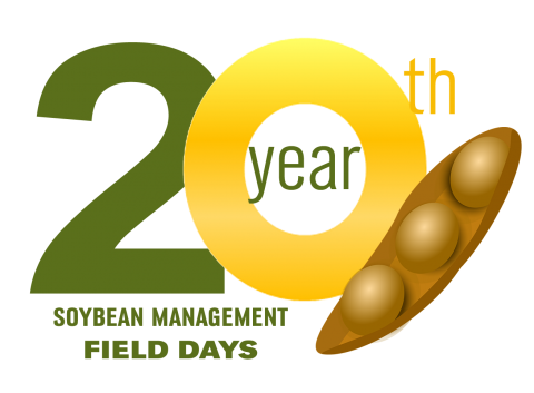 Logo for the 20th Soybean Management Field Day in 2018
