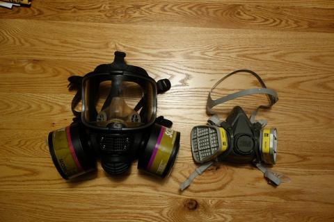Facilal respirators used during pesticide application
