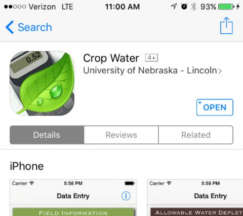 Crop Water App