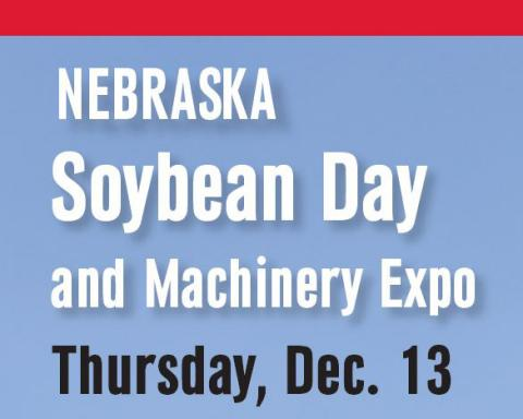 Card promoting Soybean Day & Expo