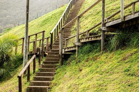 Steps on a hillside