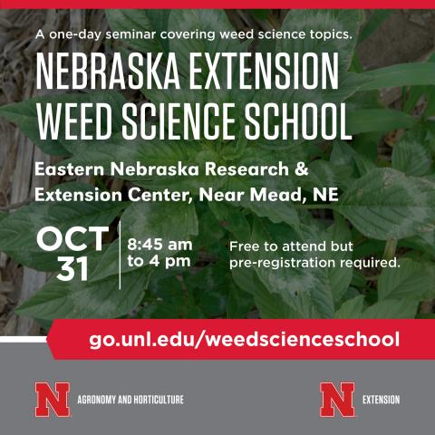 Nebraska Extension Weed Science School