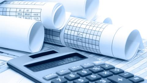 Calculator and rolls of financial data