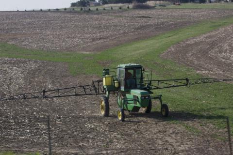 Sprayer in the field