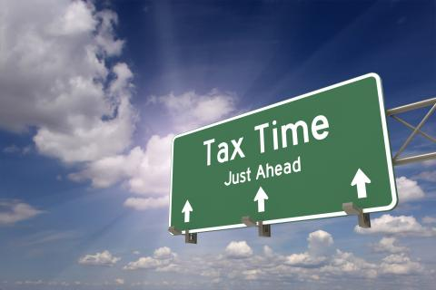Sign indicating a tax story